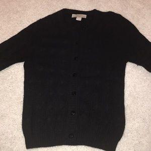 Kinross cashmere cardigan 3/4 sleeve xs